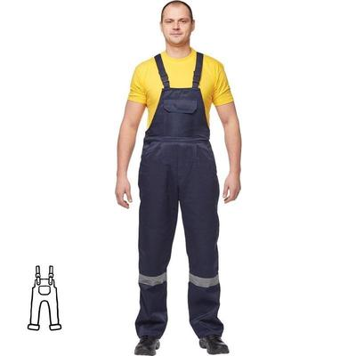 Полукомбинезон рабочий летний мужской л03-ПК с СОП синий (размер 60-62 рост 170-176)