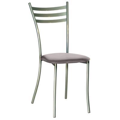 Стул для столовых Флоренция светло-серый (кожзаменитель/металл серебристый)