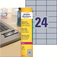 Этикетки самоклеящиеся Avery Zweckform для инвентаризации серебристые 70х37 мм (24 штуки на листе, 20 листов, артикул производителя L6133-20)
