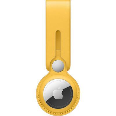 Брелок-подвеска Apple AirTag Leather Loop желтый (MM003ZM/A)