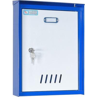 Ящик почтовый ЯП-2 1-секционный металлический белый/синий (386 x 279 x 105 мм)