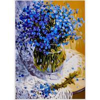 Картина по номерам Цветной Полевые цветы