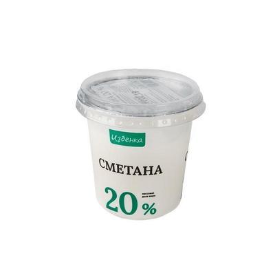 Сметана ВкусВилл Избенка 20% 350 г (12 штук в упаковке)