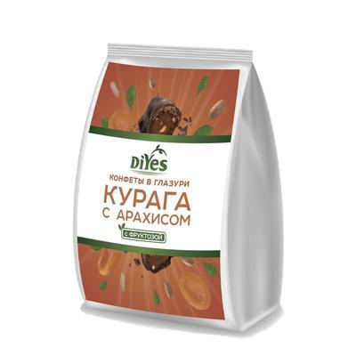 Конфеты фруктовые DiYes  курага с арахисом в глазури ,250г