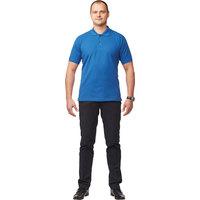 Рубашка Поло (190 г), короткий рукав, васильковый (XXL)