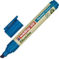 Маркер для бумаги для флипчартов Edding 32/3 Ecoline синий (толщина линии 1-5 мм) скошенный наконечник