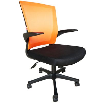 Кресло офисное Easy Chair 316 черное/оранжевое (ткань/сетка/пластик)