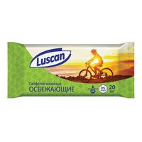 Влажные салфетки освежающие Luscan 20 штук в упаковке