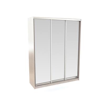 Шкаф-купе Вита (1792x600x2300, Фасад 3 Зеркало, дуб белёный)