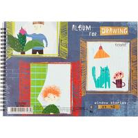 Альбом для рисования Kroyter Window stories А4 40 листов на гребне