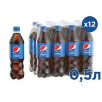 Напиток Pepsi газированный 0.5 л (12 штук в упаковке)