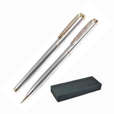 Набор письменных принадлежностей Pierre Cardin Pen&Pen серебристый (шариковая ручка, роллер)