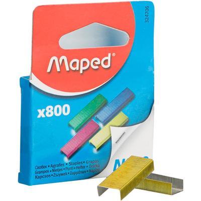 Скобы для степлера №10 Maped цветные (800 штук в упаковке)
