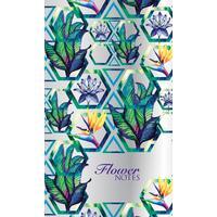 Блокнот-голограмма Flower Notes А6 32 листа фиолетовый в точку скрепка (100х165 мм)