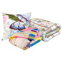 Набор 1.5-спальный Селена (одеяло 140x205 см, подушка 50x70 см, матрас  70x190 см, комплект постельного белья)