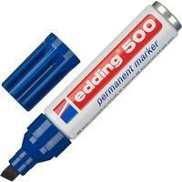 Маркер перманентный Edding E-500/3 синий (толщина линии 2-7 мм) скошенный наконечник