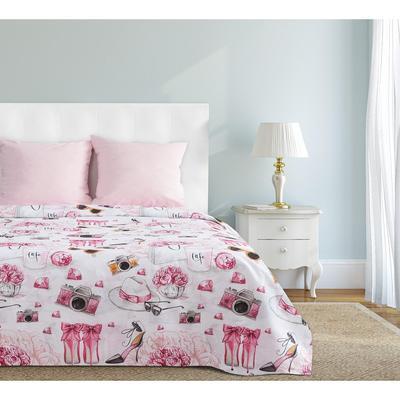 Постельное белье Этель Гламур (2-спальное с европростыней, 2 наволочки 70x70 см, бязь)