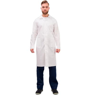 Халат рабочий мужской у02-ХЛ белый (размер 56-58, рост 182-188)