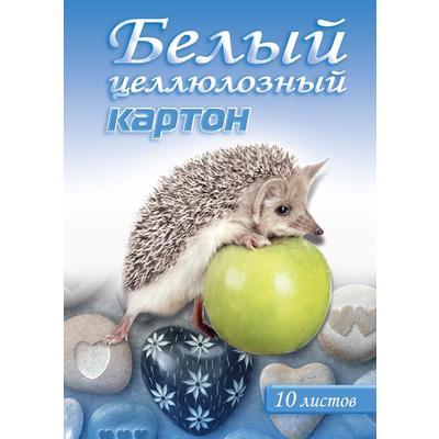 Картон белый Тетрапром Белый ежик (А4, 10 листов, немелованный)