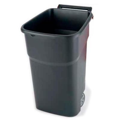 Контейнер бак для мусора и отходов Vileda Professional Атлас 100 л пластик на 2-х колесах с крышкой желтый (арт. производителя 137764)