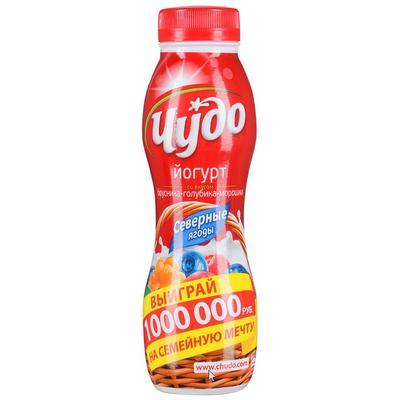Йогурт питьевой Чудо северная ягода 2.4% 270 г
