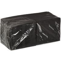 Салфетки бумажные 24x24 см черные 2-слойные 250 штук в упаковке