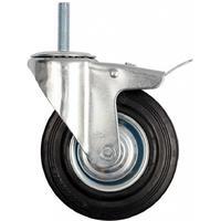 Колесо для тележки поворотное SCTB 125 с тормозом 125 мм