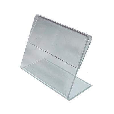 Ценникодержатель-подставка акрил 60x40 мм прозрачный (20 штук в  упаковке)