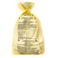 Пакет для медицинских отходов СЗПИ класс Б 120 л желтый 70x110 см 16 мкм (50 штук в упаковке)