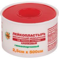 Пластырь фиксирующий Leiko Plaster 2.5x500 см тканевая основа