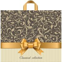 Пакет подарочный полиэтиленовый Бежевый узор (34x40x5 см)