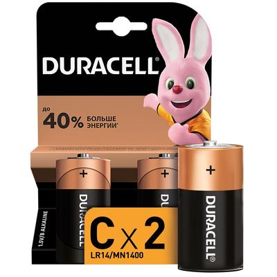 Батарейки Duracell C LR14 (2 штуки в упаковке)