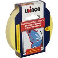 Клейкая лента малярная для изогнутых поверхностей Unibob желтая 19 мм х 25 м