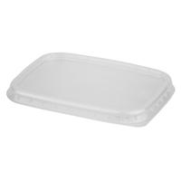 Крышка для контейнера Стиролпласт 108x82 мм прозрачная (100 штук в упаковке)