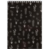 Блокнот Attache Selection Llamas A5 80 листов черный в клетку на спирали (145x203 мм)