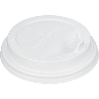 Крышка для стакана 90 мм пластиковая белая с клапаном 100 штук в упаковке Huhtamaki