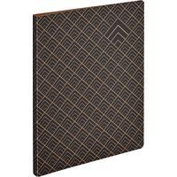 Папка с зажимом Комус Art Deco A4 15 мм черная с рисунком (до 150 листов)