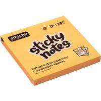 Стикеры Attache Selection 76x76 мм неоновые оранжевые (1 блок, 100 листов)