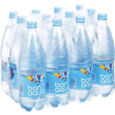 Вода питьевая BonAqua негазированная 1 л (12 штук в упаковке)