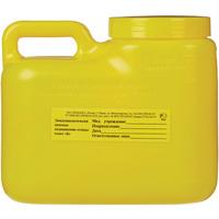 Упаковка для сбора медицинских отходов Олданс класс Б желтая 3 л