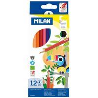 Карандаши цветные Milan 12 цветов шестигранные