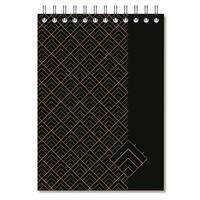 Блокнот Комус Art Deco A5 80 листов черный в клетку на спирали (148x215 мм)