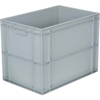 Ящик (лоток) универсальный полипропиленовый 600х400х450 мм серый