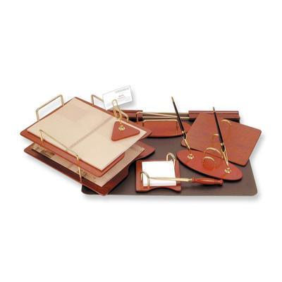 Уценка. Набор настольный деревянный 8 предметов красное дерево