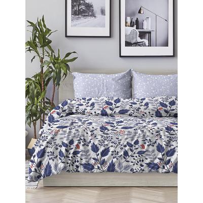 Постельное белье Любимый дом Цветочный орнамент (1.5-спальное, 2 наволочки 70х70 см, поплин)
