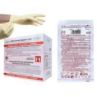 Перчатки медицинские хирургические латексные SFM 7.5 стерильные неопудренные размер M (100 штук в упаковке)