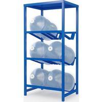 Стеллаж для бутилированной воды Бомис-6П на 6 тар по 19л синий
