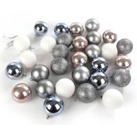 Набор елочных шаров пластик в ассортименте (5 см, 30 штук в упаковке)