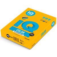 Бумага цветная для печати IQ Color желтая интенсив (А4, 160 г/кв.м, 250 листов)