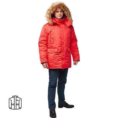 Куртка рабочая зимняя мужская Аляска з28-КУ красная (размер 52-54, рост 182-188)